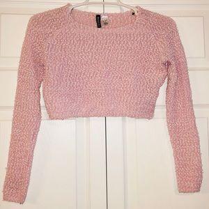 H&M Pink Super Cute Knit Style Crop Top
